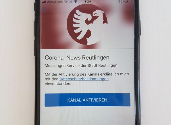 Stadt Reutlingen startet automatischen Info-Service für Corona-News